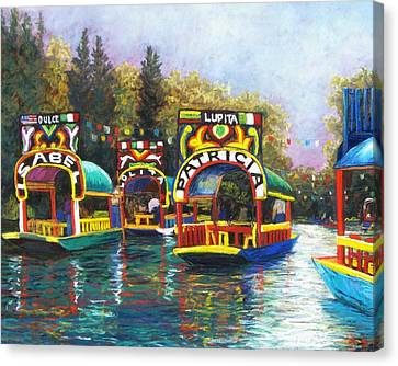 Xochimilco Canvas Print by Candy Mayer