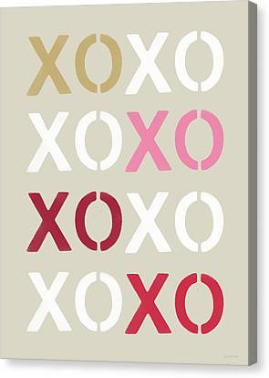 Xoxo- Art By Linda Woods Canvas Print by Linda Woods