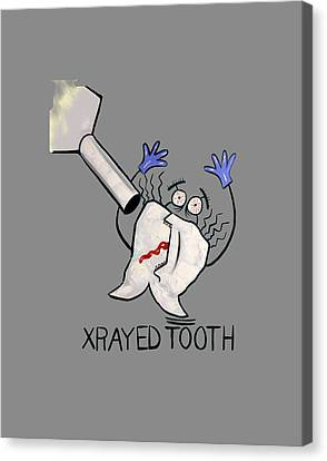 Xrayed Tooth T-shirt Anthony Falbo Canvas Print by Anthony Falbo