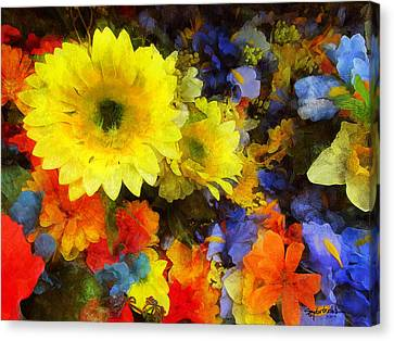 Xtreme Floral Seventeen Into The Depths Canvas Print by Spyder Webb