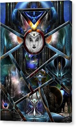 Xzendor7 Realm Of Fractal Fantasies Matrix Canvas Print