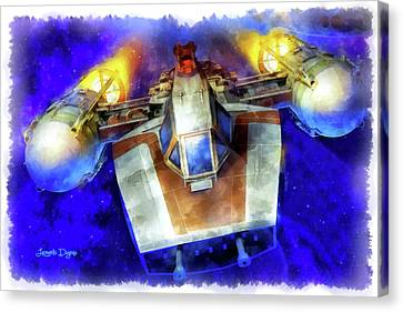 Y-wing Fighter - Aquarell Style Canvas Print