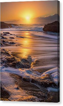 Canvas Print featuring the photograph Yachats' Sun by Darren White