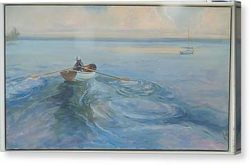 Yacht Ahoy Canvas Print by Ron Wilson