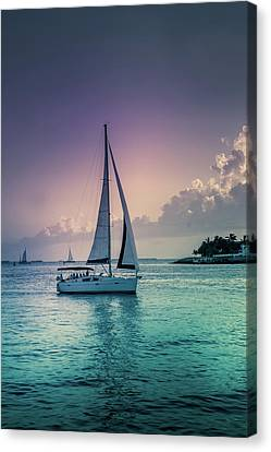 Yacht At The Atlantic Ocean Canvas Print by Art Spectrum