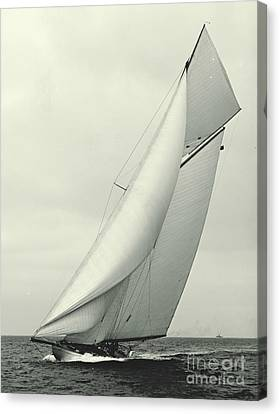 Yacht Columbia 1901 Canvas Print by Padre Art