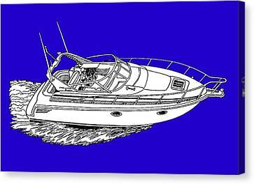 Yacht On A Shirt Canvas Print by Jack Pumphrey