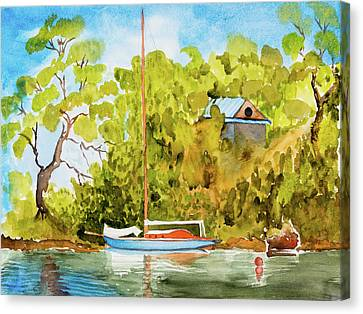 Yacht Weene' In Barnes Bay  Canvas Print