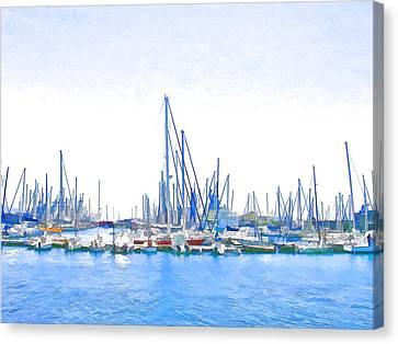 Yachts Simon Canvas Print by Jan Hattingh