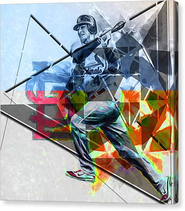 Canvas Print featuring the photograph Yadier Molina St. Louis Cardinals Baseball by David Haskett
