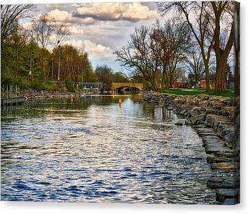 Yahara River, Madison, Wi Canvas Print by Steven Ralser