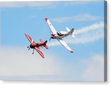 Yak 55 And Yak 18 Canvas Print by Larry Keahey