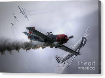 Yak Display Team Canvas Print by Nigel Bangert
