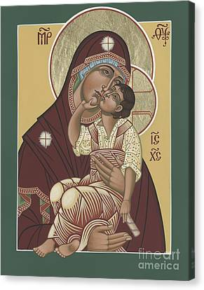 Canvas Print featuring the painting Yakhrom Icon Of The Mother Of God 258 by William Hart McNichols