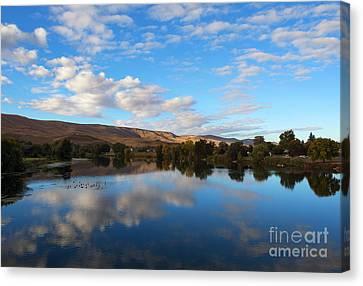 Yakima River Mirror Canvas Print by Mike Dawson