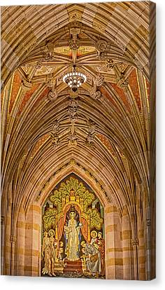 Canvas Print featuring the photograph Yale University Alma Mater by Susan Candelario