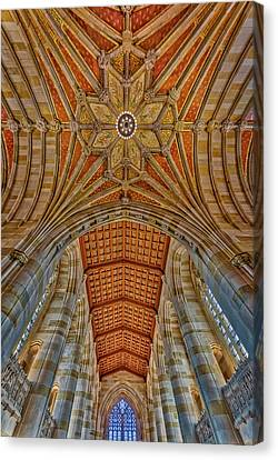 Canvas Print featuring the photograph Yale University Sterling Library by Susan Candelario
