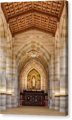 Canvas Print featuring the photograph Yale University Sterling Memorial Library by Susan Candelario
