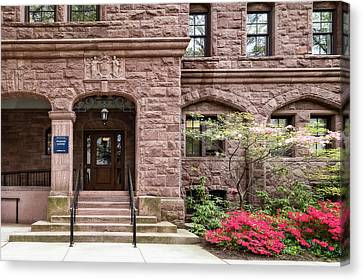 Canvas Print featuring the photograph Yale University Warner House by Susan Candelario