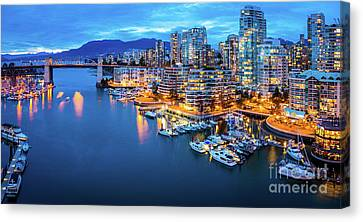 Yaletown Panorama Canvas Print by Inge Johnsson