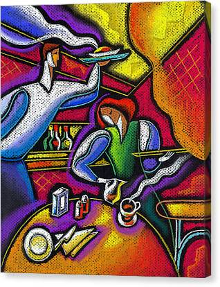 Canvas Print featuring the painting  Yam Food And Drink by Leon Zernitsky