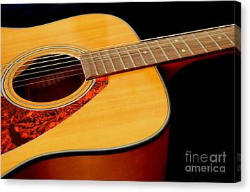 Yamaha Guitar - No 2 Canvas Print by Mary Deal