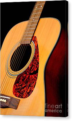 Yamaha Guitar - No 3 Canvas Print by Mary Deal