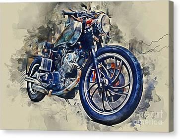 Yamaha Motorbike Canvas Print