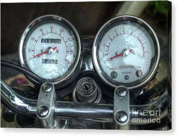 Yamaha Speedometer Canvas Print by Michelle Meenawong