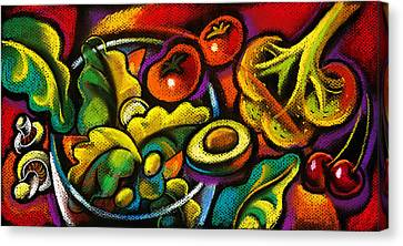 Yammy Salad Canvas Print by Leon Zernitsky