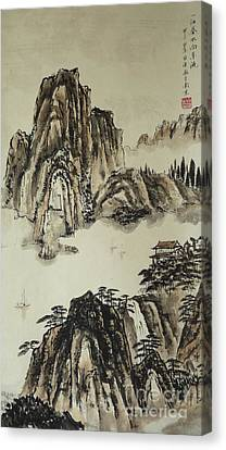 Yangze River In Autumn Canvas Print