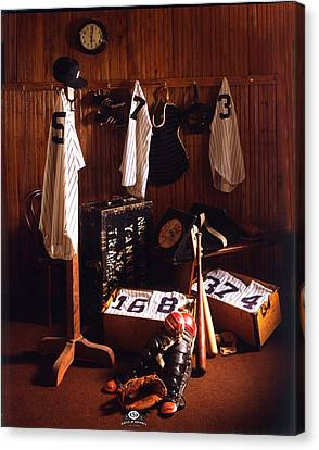 Yankee Clubhouse Canvas Print by David M Spindel