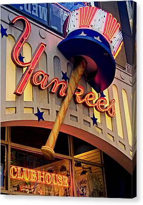 Yankee Clubhouse Canvas Print by Joann Vitali