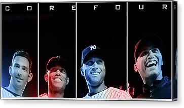 Yankee Core Four By Gbs Canvas Print by Anibal Diaz
