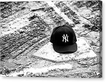 Baseball Canvas Print - Yankee Home by John Rizzuto