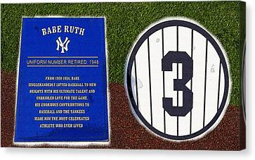 Yankee Legends Number 3 Canvas Print by David Lee Thompson