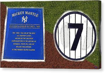 Yankee Legends Number 7 Canvas Print by David Lee Thompson