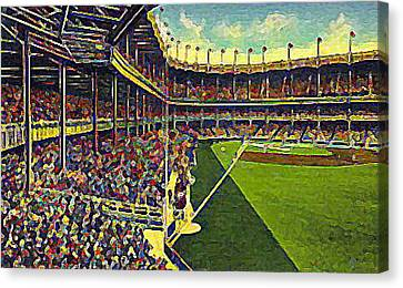 Yankee Stadium From Right Field 1937 Canvas Print