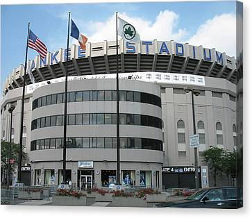 Yankee Stadium - New York Canvas Print by Daniel Hagerman