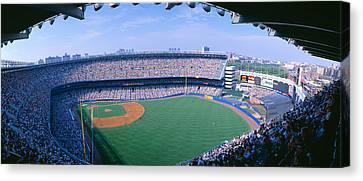 Yankee Stadium Ny Yankees V. Tampa Canvas Print by Panoramic Images