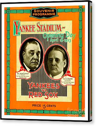 Jonathan Papelbon Canvas Print - Yankee Stadium Opening Day Program by Peter Gumaer Ogden Collection