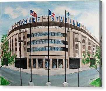 Yankee Stadium Canvas Print by Paul Cubeta