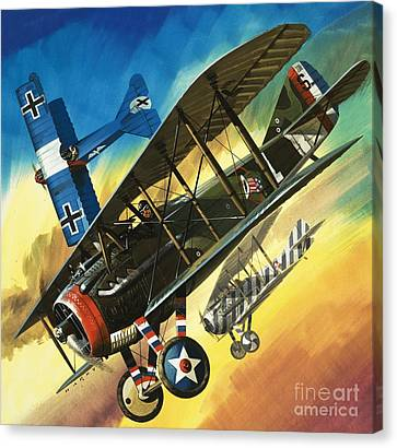 Yankee Super Ace Edward Rickenbacker Canvas Print by Wilf Hardy