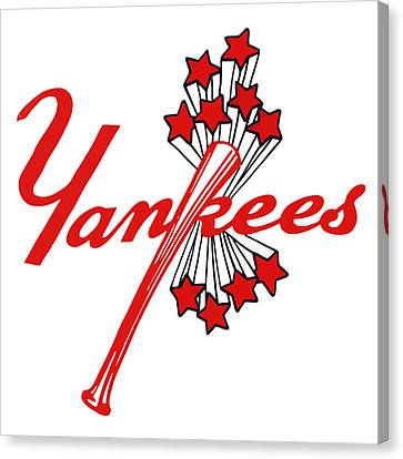 Canvas Print featuring the digital art Yankees Vintage by Gina Dsgn