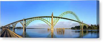 Yaquina Bay Bridge Fisheye Canvas Print by C Steele