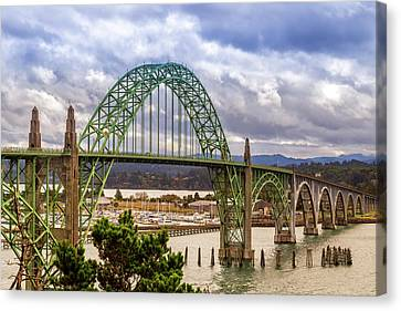 Canvas Print featuring the photograph Yaquina Bay Bridge by James Eddy