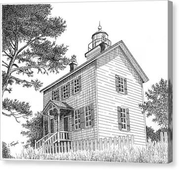 Yaquina Bay Lighthouse Canvas Print by Lawrence Tripoli