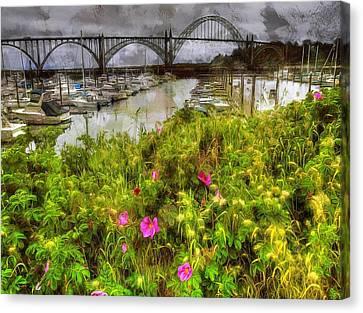 Yaquina Bay Roses Canvas Print