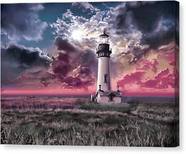 Beach Scenes Canvas Print - Yaquina Head Lighthouse 2 by Bekim Art