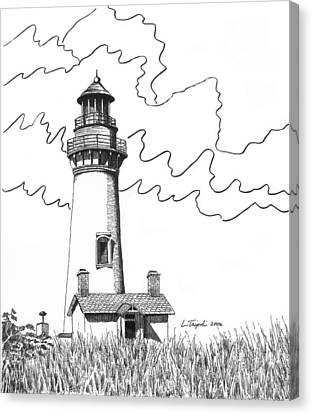 Yaquina Head Lighthouse Canvas Print by Lawrence Tripoli